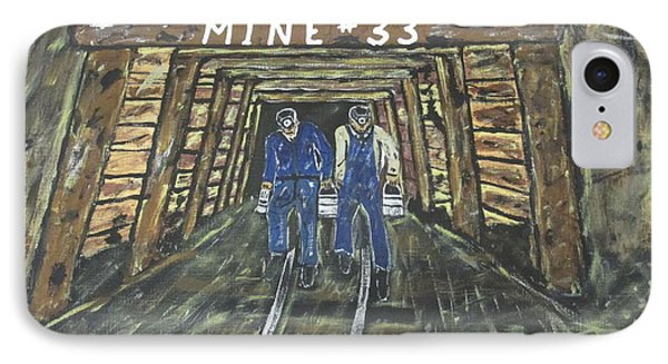 No Windows Down There In The Coal Mine .  IPhone Case
