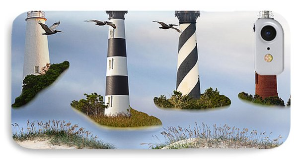 North Carolina's Rt. 12 Lighthouses IPhone Case