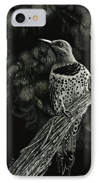 IPhone Case featuring the drawing Northern Flicker by Sandra LaFaut