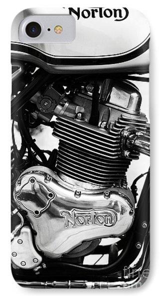 Norton Commando 961 Sport Monochrome Phone Case by Tim Gainey