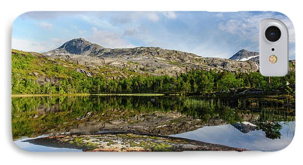 Norway Mountain Scenery Evening Light IPhone Case by Fredrik Norrsell