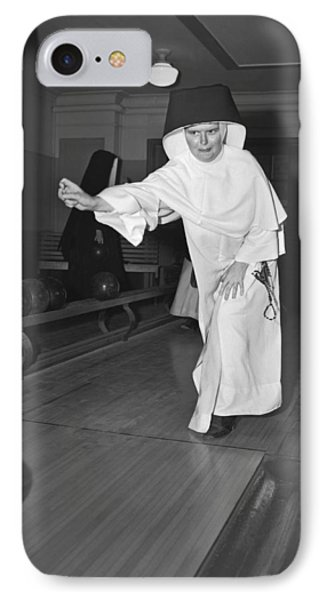 Nuns Bowling IPhone Case by Underwood Archives