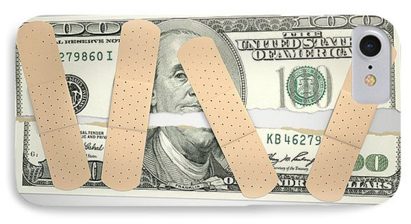 Nursed Torn Us Dollar IPhone Case by Allan Swart