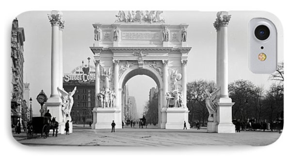 Nyc, Madison Square, Dewey Arch IPhone Case by Science Source
