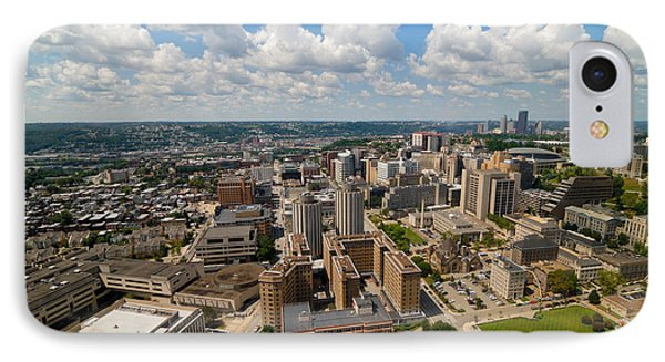 Oakland Pitt Campus With City Of Pittsburgh In The Distance Phone Case by Amy Cicconi