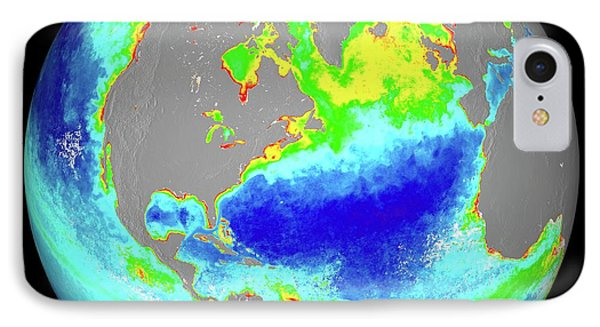 Ocean Chlorophyll Concentrations IPhone Case by Nasa/suomi Npp/norman Kuring