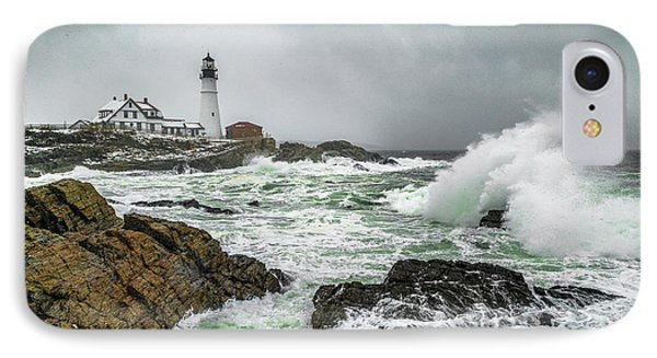Ocean Storm At Portland Head IPhone Case