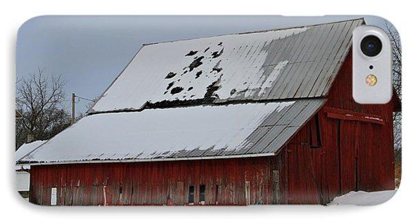 Ohio Barn In Winter IPhone Case