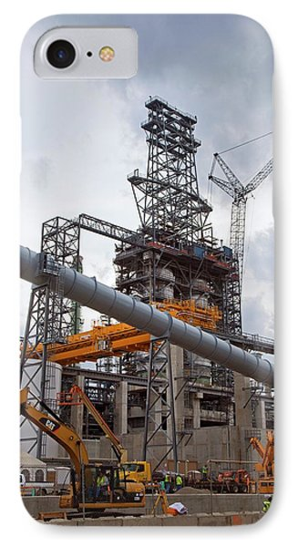 Oil Refinery Expansion IPhone Case by Jim West