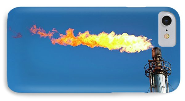 Oil Terminal Flaring Off Gas IPhone Case by Ashley Cooper
