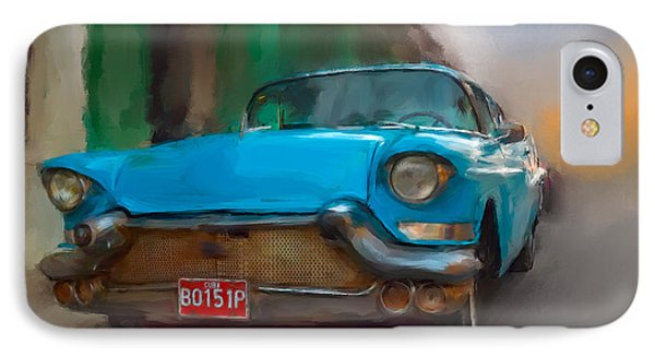 IPhone Case featuring the photograph Old Blue Car by Juan Carlos Ferro Duque