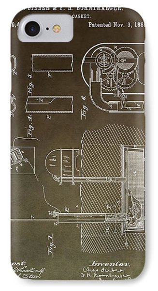 Old Casket Patent IPhone Case by Dan Sproul