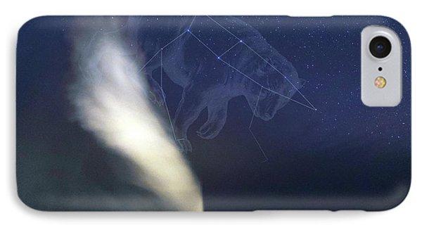 Old Faithful Geyser And Ursa Major Stars IPhone Case