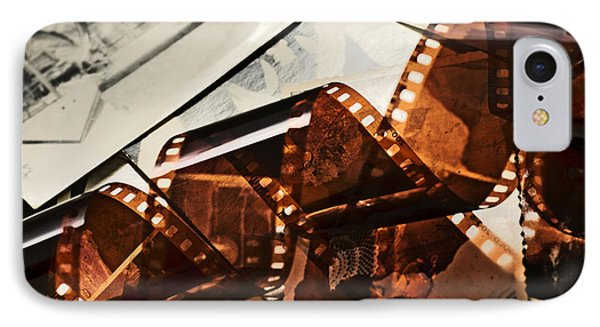 Old Film Strip And Photos Background IPhone Case