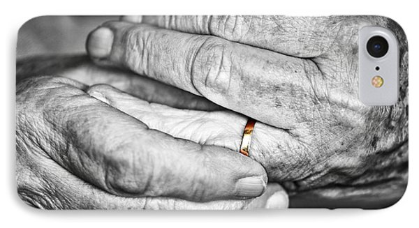 Old Hands With Wedding Band IPhone Case by Elena Elisseeva