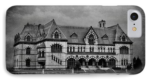 Old Post Office - Customs House B/w IPhone Case by Sandy Keeton