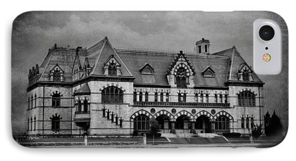 Old Post Office - Customs House B W IPhone Case
