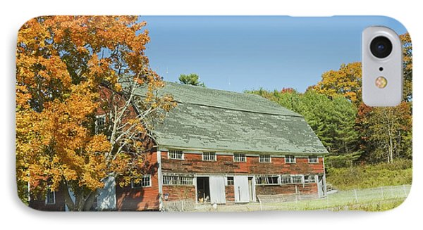 Old Red Barn In Maine IPhone Case by Keith Webber Jr