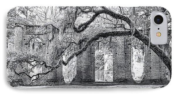 Old Sheldon Church - Side View IPhone Case by Scott Hansen