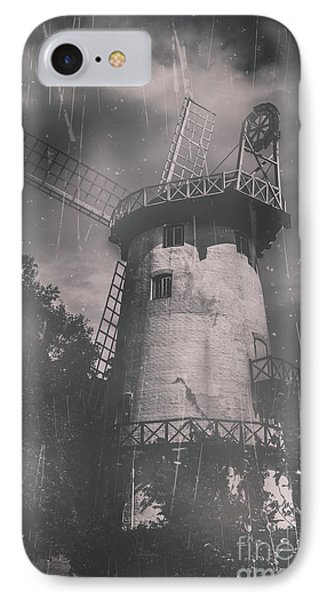 Old Tower Mill Building. Historic Fine Art Photo IPhone Case