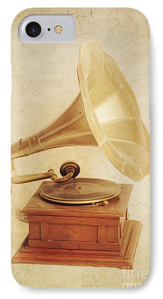 Old Vintage Gold Gramophone Photo. Classical Sound IPhone Case