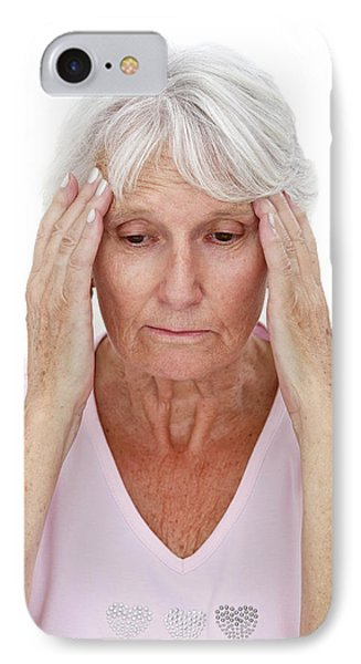 Older Lady With Headache IPhone Case by Lea Paterson