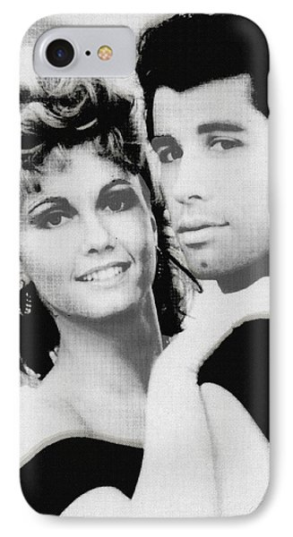 Olivia Newton John And John Travolta In Grease Collage IPhone Case