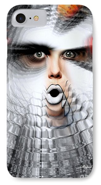 IPhone Case featuring the painting OMG by Rafael Salazar