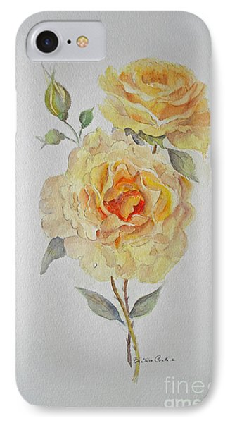IPhone Case featuring the painting One Rose Or Two by Beatrice Cloake