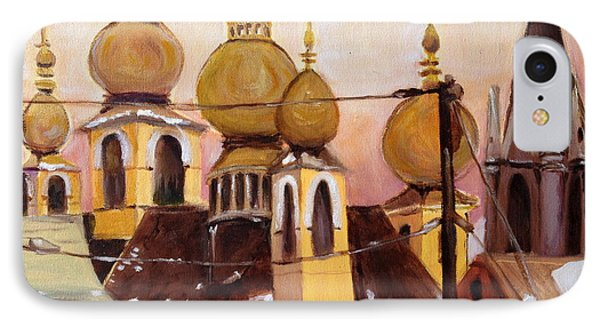 IPhone Case featuring the painting Onion Domes by Julie Todd-Cundiff