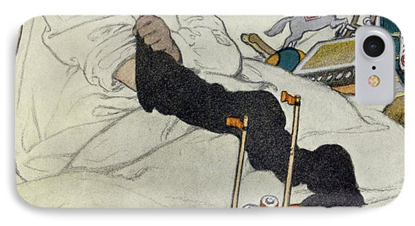 Opening The Christmas Stocking IPhone Case by Jessie Willcox Smith