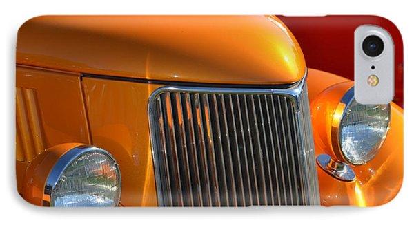 Orange Hotrod IPhone Case by Dean Ferreira
