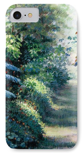 IPhone Case featuring the painting Our Garden by Laila Awad Jamaleldin
