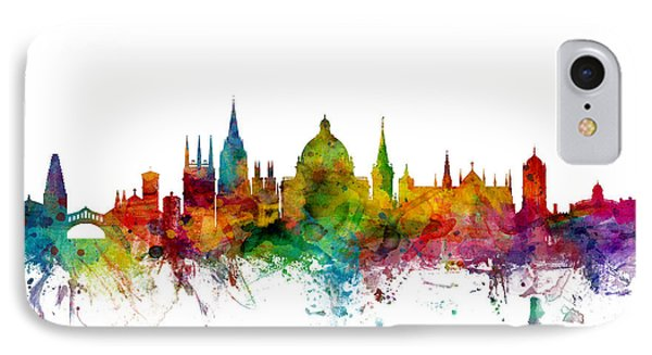 Oxford England Skyline IPhone Case by Michael Tompsett