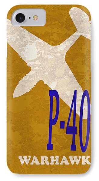 P-40 Warhawk IPhone Case by Mark Rogan