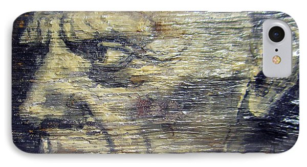 Pablo Picasso Face Portrait - Painting On The Wood Phone Case by Nenad Cerovic