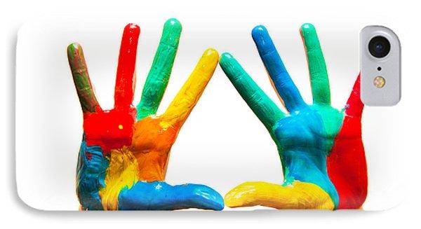 Painted Hands Phone Case by Michal Bednarek