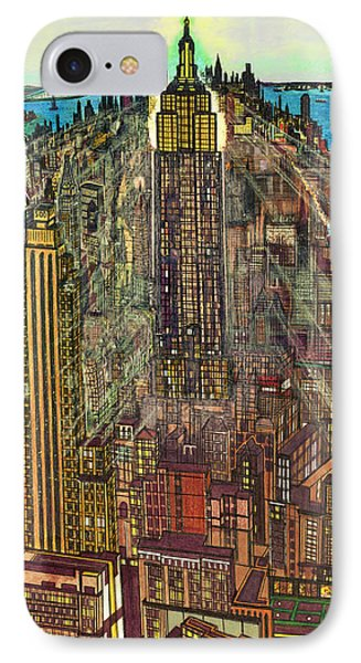 New York Mid Manhattan 71 IPhone Case by Art America Gallery Peter Potter