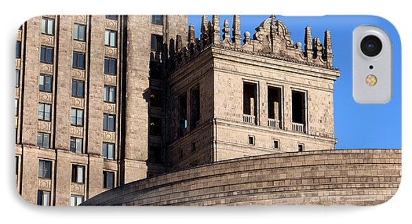 Palace Of Culture And Science In Warsaw Phone Case by Artur Bogacki
