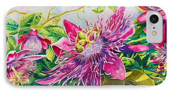 Passionflower Party Phone Case by Janis Grau
