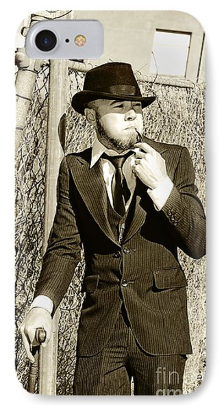 Pastime Pipe Smoker IPhone Case