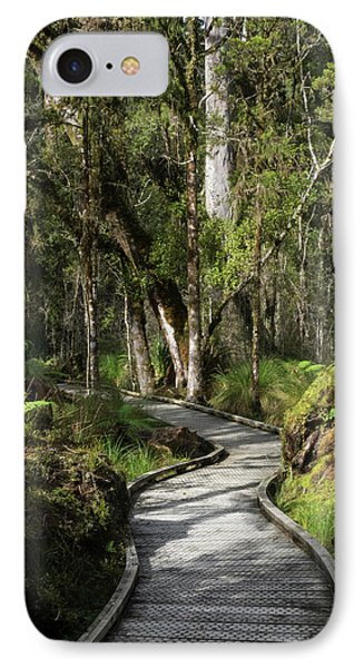 Path Passing Through Forest, Te IPhone Case by Panoramic Images