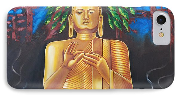 IPhone Case featuring the painting Peace Of Mind by Ragunath Venkatraman