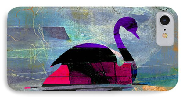 Peaceful Swan IPhone Case by Marvin Blaine