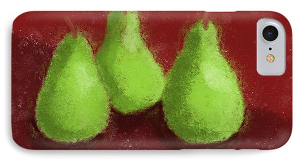 Pear Trio Phone Case by Heidi Smith