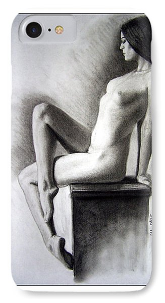 IPhone Case featuring the drawing Pedestal  by Joseph Ogle