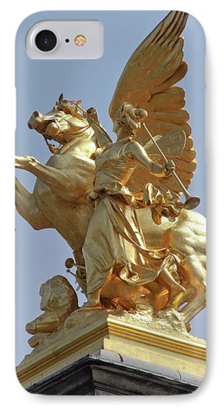 Pegasus Statue At The Pont Alexander IPhone Case by William Sutton