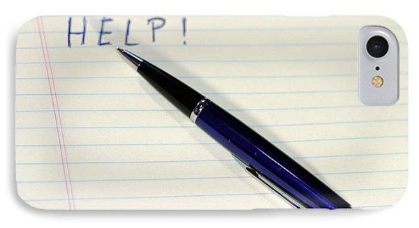 Pen Help Phone Case by Henrik Lehnerer