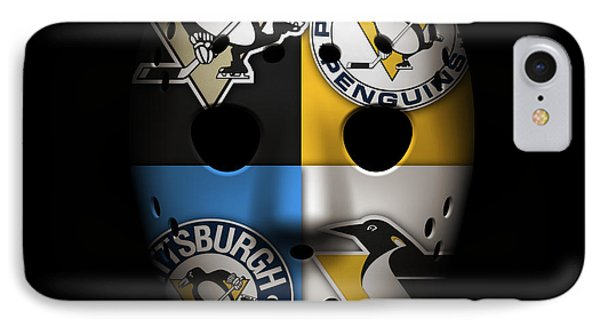 Penguin iPhone 7 Case - Penguins Goalie Mask by Joe Hamilton