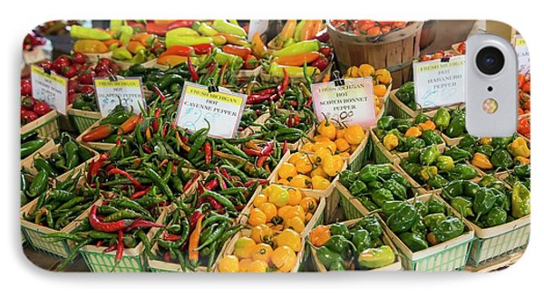 Peppers On A Market Stall IPhone Case